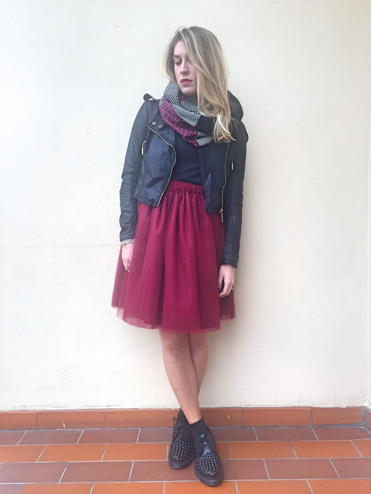 Gonna Gonna Lunga Outfit Outfit Gonna Lunga Lunga Bordeaux Outfit Bordeaux 543qARjL